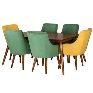 تصویر میز و صندلی ناهار خوری طرح لبخند