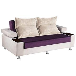 تصویر مبل تختخواب شو دو نفره دو رنگ
