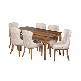 تصویر میز و صندلی ناهار خوری طرح زیتون